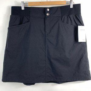 Style & Co Sport Skort Over Knit Shorts Black 1X